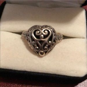Brighton silver used heart ring. Size 7